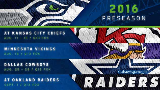 Seattle Seahawks 2016 Preseason