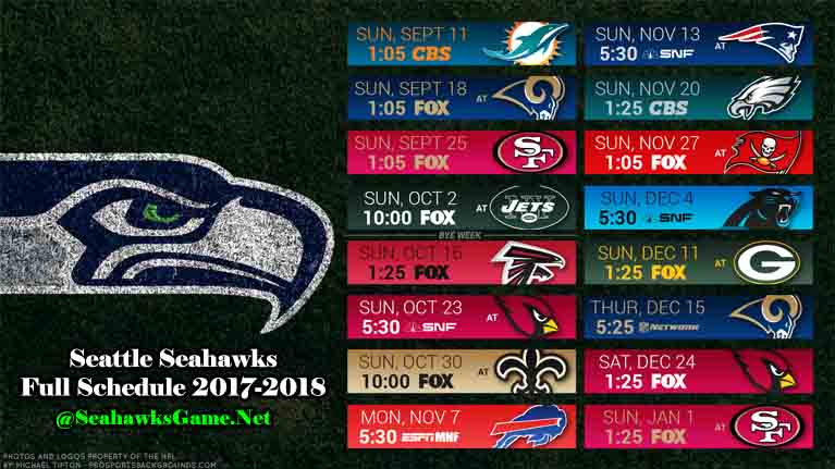 Seattle Seahawks Games Schedule