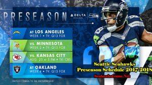 Football Game Preseason TV Schedule 2017
