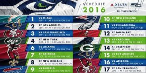 The Seattle Seahawks Team TV Schedule 2016